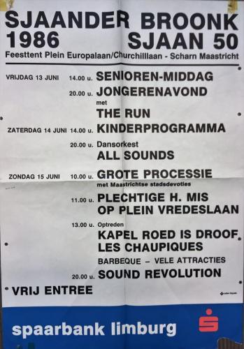 Broonkprogramma Sjaan 50 jaor 1986